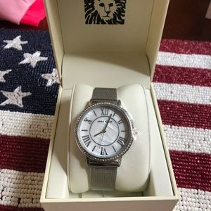 Anne Klein Mother of Pearl silver watch